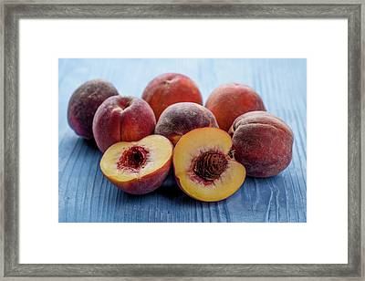 Fresh Peaches Framed Print by Aberration Films Ltd
