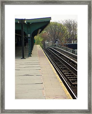 Fresh Pond Rd Station Framed Print by Mieczyslaw Rudek