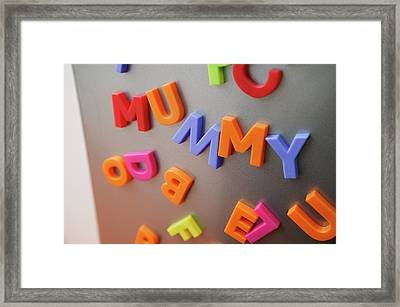 Fridge Magnets Framed Print by Michael Donne/science Photo Library