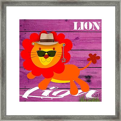 Friendly Lion Collection Framed Print