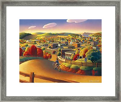 Framed Print featuring the painting Friendly  by Robin Moline