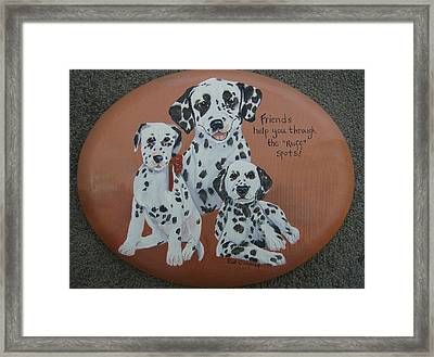 Friends Help Through Rough Spots Framed Print