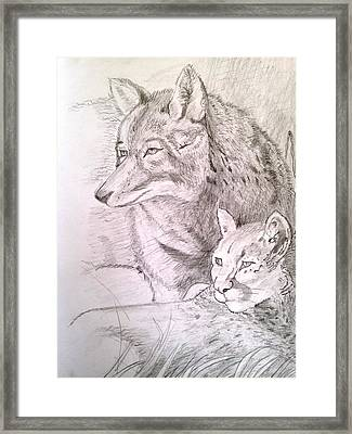 Friends In Watch Framed Print