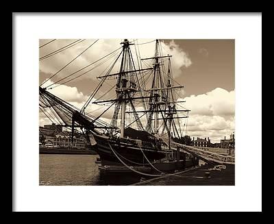 Ship In Sepia Framed Prints