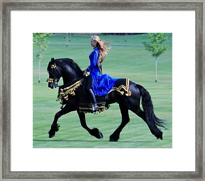 Friesian Dream Framed Print