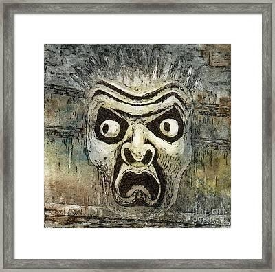 Fright Framed Print by Suzette Broad