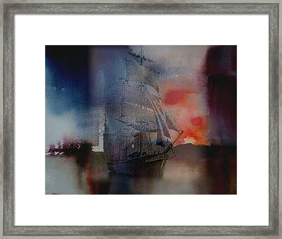 From Out Of The Sunset Framed Print