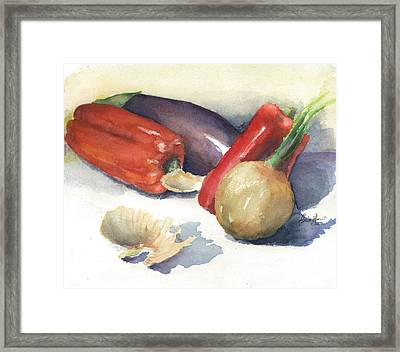 From The Tuscan Garden Framed Print