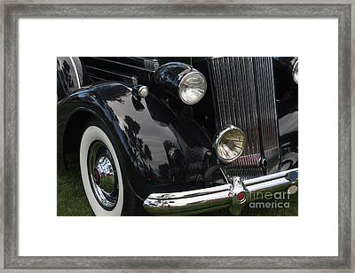 Framed Print featuring the photograph Front Side Of A Classic Car by Gunter Nezhoda