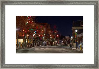 Framed Print featuring the photograph Front Street by David Hufstader