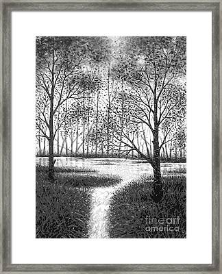 Framed Print featuring the digital art Frosty Morning by Cristophers Dream Artistry