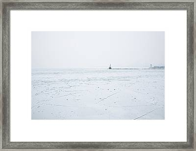 Frozen Framed Print by Joanna Madloch