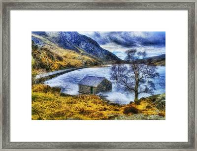 Frozen Lake Framed Print by Ian Mitchell