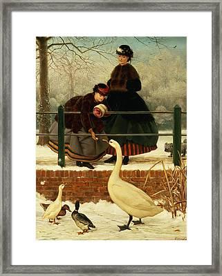 Frozen Out Framed Print by George Dunlop Leslie