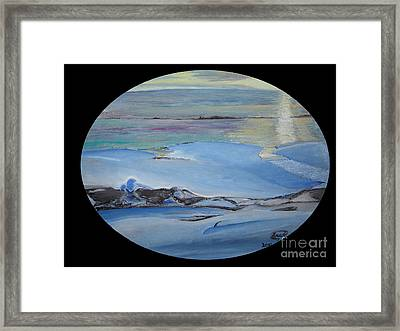 Frozen Framed Print by Saad Hasnain