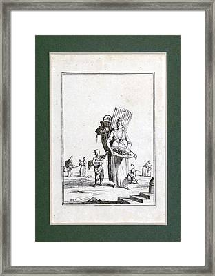 Fruit Seller, Paris, France, Europe, Melon Framed Print by French School