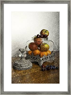 Fruit Still Life Framed Print by Lesley Rigg