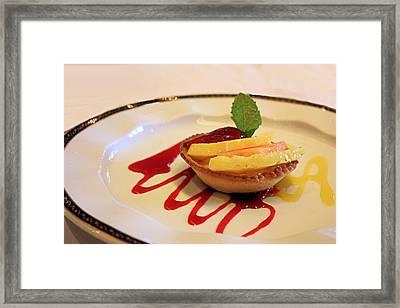 Fruit Tart Framed Print by Kristin Elmquist
