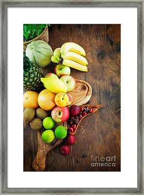 Fruit Variety Framed Print