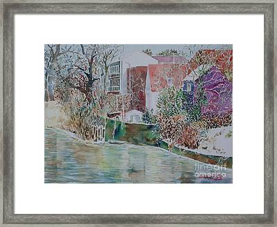 Framed Print featuring the painting Fuerth Eastern Riverside Of Rednitz by Alfred Motzer