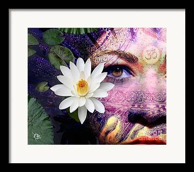 Hindu Goddess Mixed Media Framed Prints