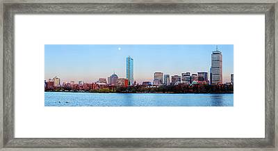 Full Moon Over Boston Framed Print