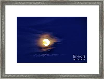 Full Moon With Clouds Framed Print by Thomas R Fletcher