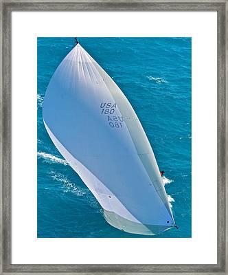 Full Sails Framed Print by Steven Lapkin