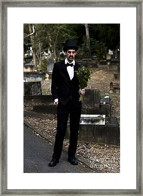 Funeral Attendee Framed Print