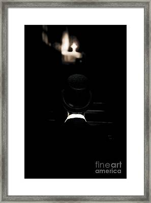 Funeral Director Sitting In Pew Framed Print by Jorgo Photography - Wall Art Gallery