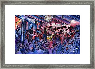 Funky Johnson At The Goat Framed Print