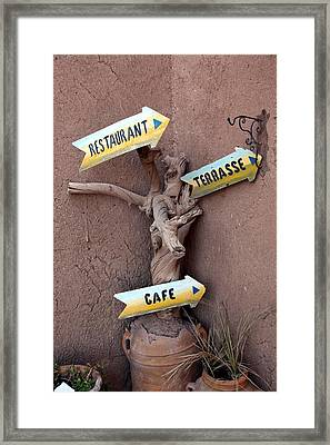 Funky Signs Framed Print