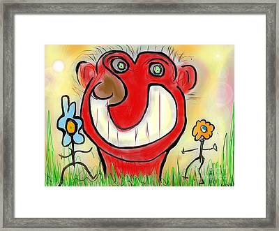 Funny Face Framed Print