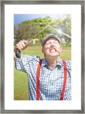 Funny Golf Framed Print by Jorgo Photography - Wall Art Gallery