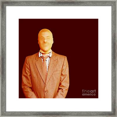 Funny Male Business Criminal Laughing Framed Print by Jorgo Photography - Wall Art Gallery
