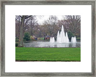 Furman Fountain Framed Print by Larry Bishop
