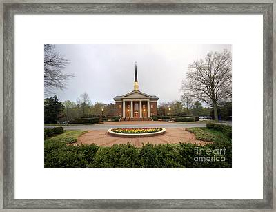 Furman University Charles Daniel Chapel   Greenville Sc Framed Print
