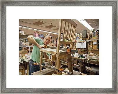 Furniture Crafts Manufacturing Framed Print by Jim West