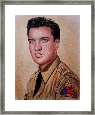 G I Elvis  Framed Print