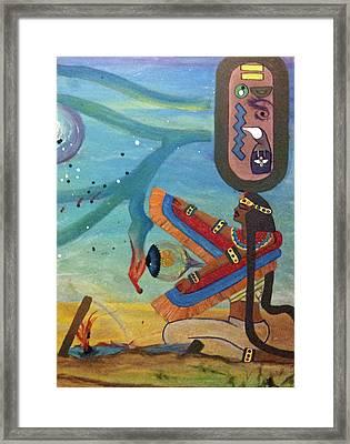 Galactic War Egyptian Release Framed Print by TheKingofIdeas TKOI