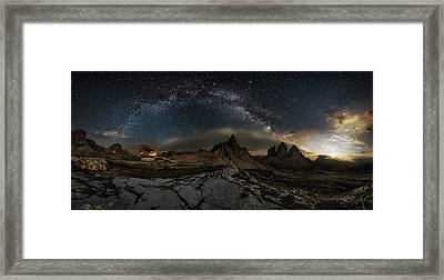 Galaxy Dolomites Framed Print