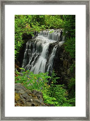 Galena Creek Falls, Mount Framed Print by Michel Hersen