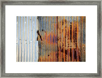 Galvanized Framed Print