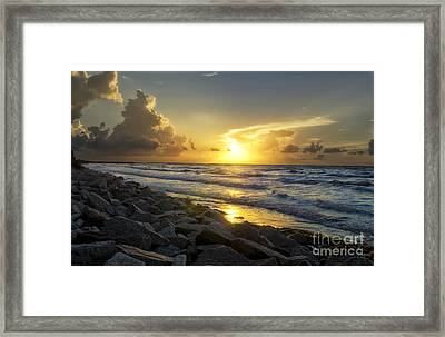 Galveston Sunrise Framed Print