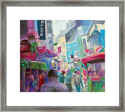 Framed Print featuring the painting Galway  Ireland by Paul Weerasekera