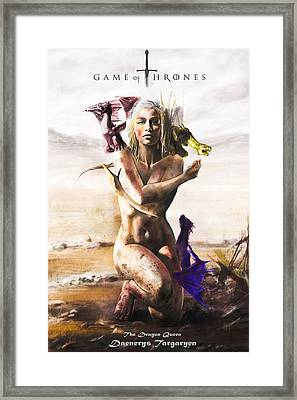 Game Of Thrones - Daenerys Framed Print