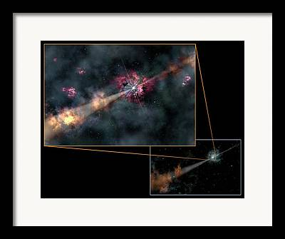 Gamma Ray Burst Framed Prints