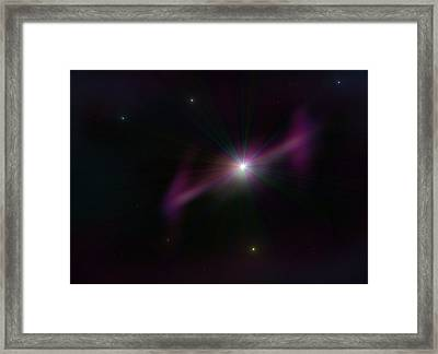 Gamma Ray Burst Framed Print by Ricky Haug