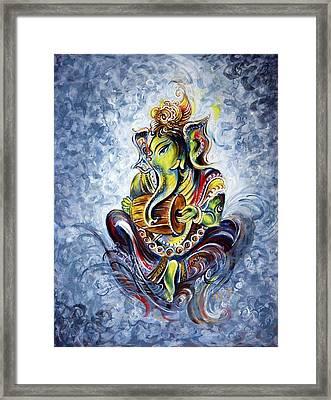 Musical Ganesha Framed Print