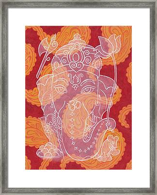 Ganesha Framed Print by Jennifer Mazzucco